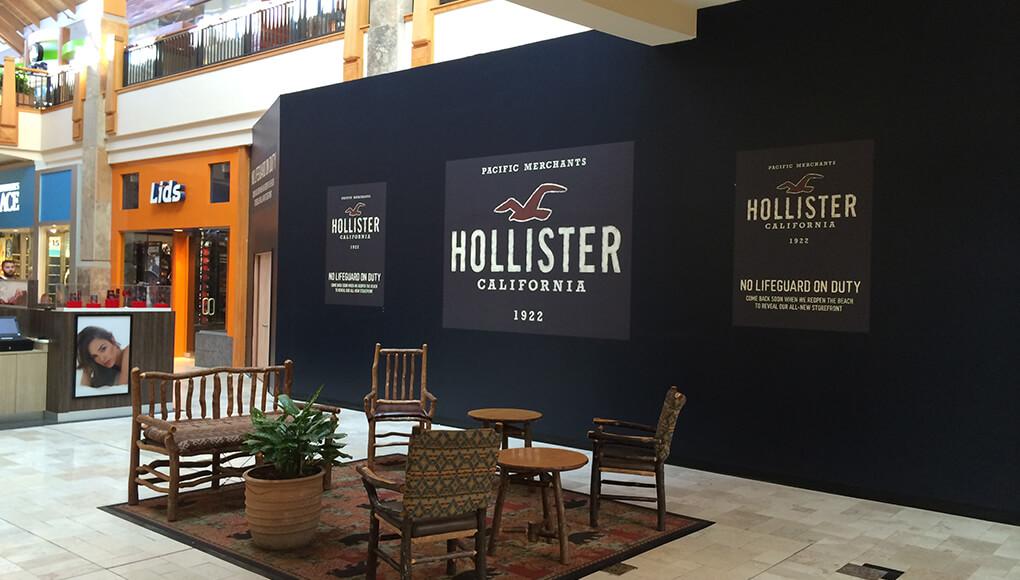 Impresión gran formato para publicidad y promoción de tienda Hollister