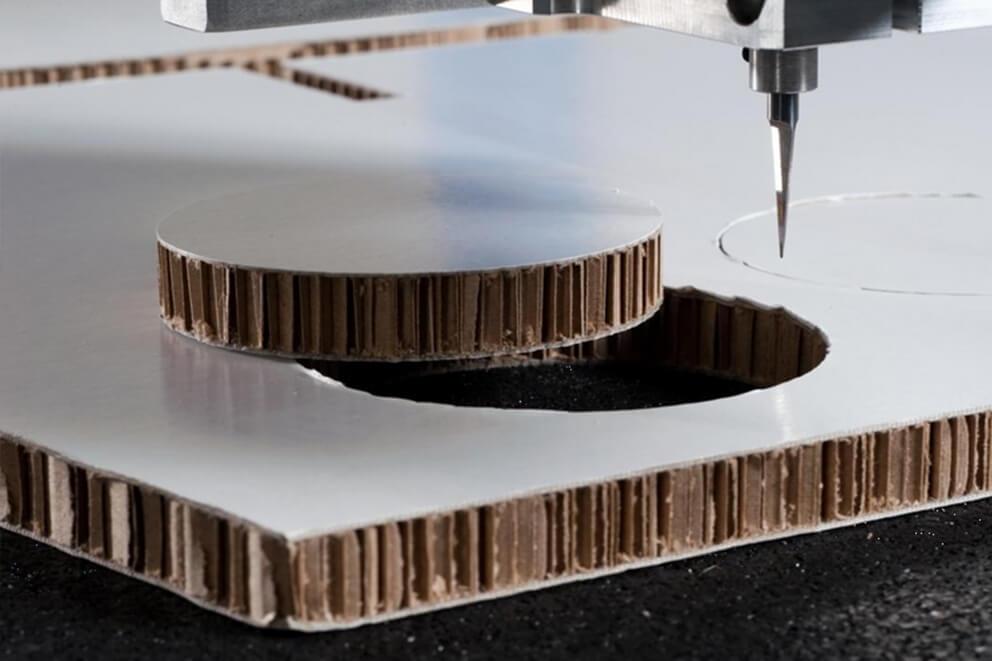 Fresado de cartón ondulado tipo re-board