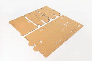 Fresado de cartón corrugado para la realización de embalajes o packaging