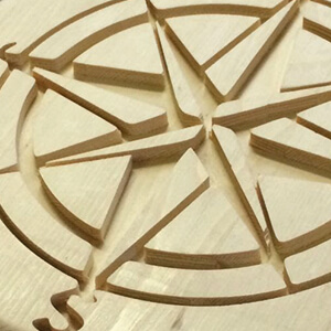 Fresado de pieza de madera maciza